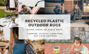 Recycled Plastic Outdoor Rugs and Mats – Extra Large Foldable Mats